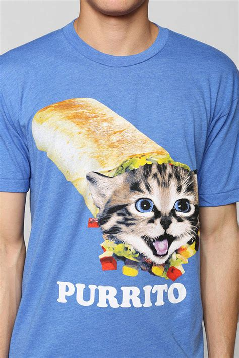 8 Funniest Cat T Shirts by Hilarious Cat Taco Shirts Purrito T Shirt