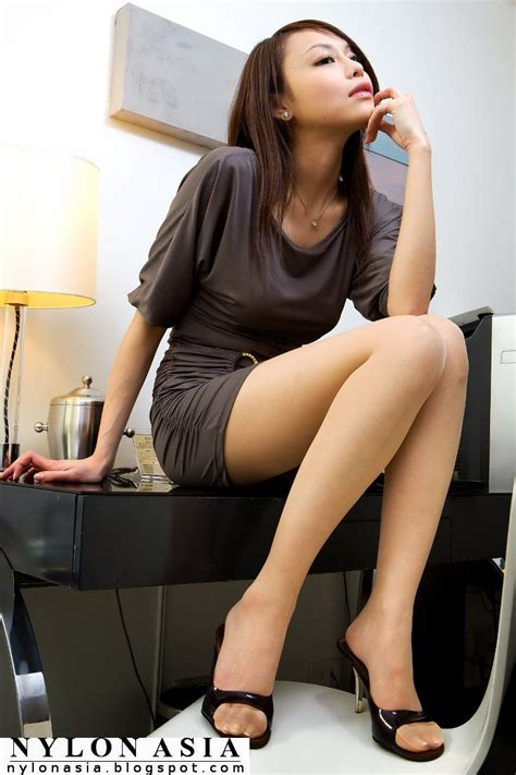 chinese hot japanese women mini skirts mini skirt dress sheer tan pantyhose sexy asian girl