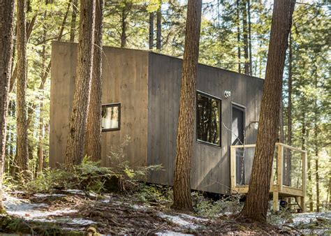 tiny house getaway test drive a mini cabin in rural new york harvard students create tiny vacation houses for stressed