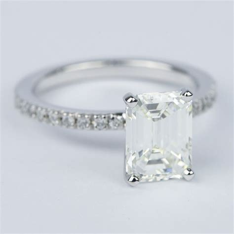 pave emerald engagement ring 2 carat
