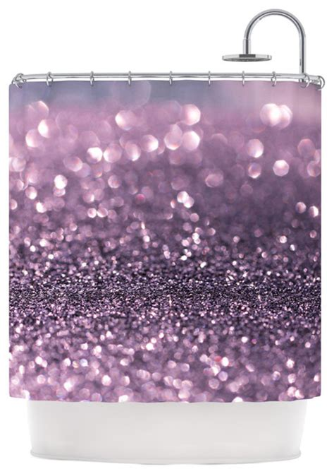 purple sequin shower curtain debbra obertanec quot lavender sparkle quot purple glitter shower