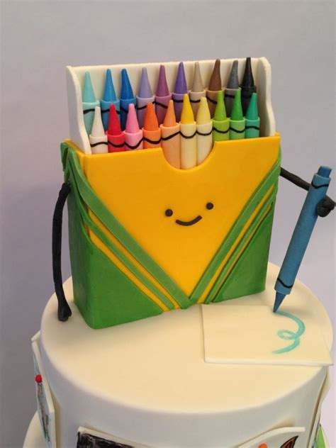 doodlebug cakes crayon box doodle cake cakecentral