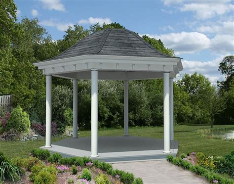 gazebo it vinyl roof hexagon gazebos gazebos by style