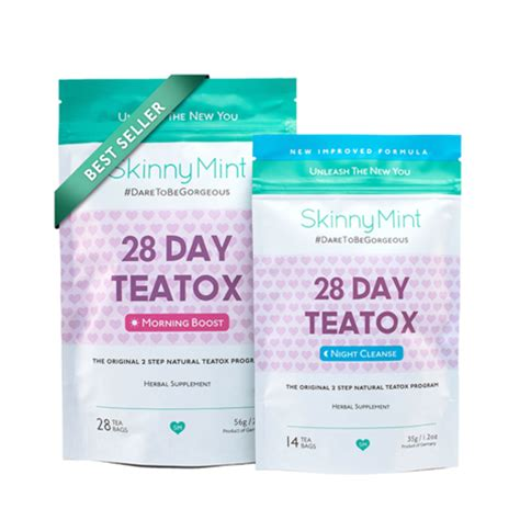 Your Tea 28 Day Detox by Skinnymint The Original Teatox Skinnymint The