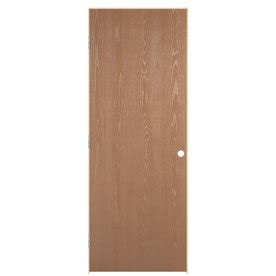 Prehung Oak Interior Doors Shop Reliabilt Prehung Hollow Flush Oak Interior Door Common 30 In X 80 In Actual 31 5