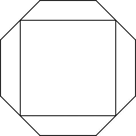 octagon circumscribed about a square clipart etc