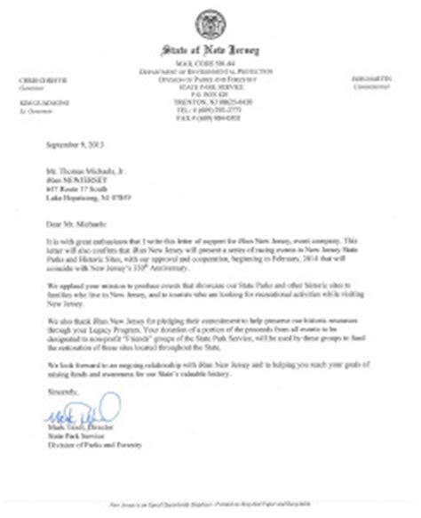 Endorsement Letter For Id Nj Letter Of Endorsement Irun New Jersey