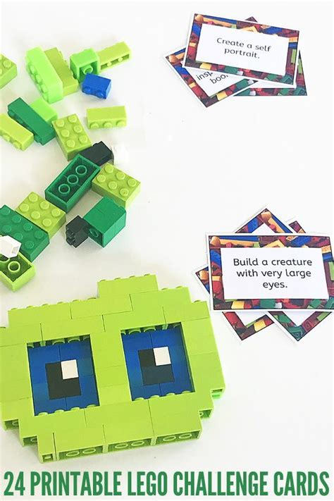 printable lego card printable lego challenge cards lego construction
