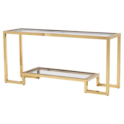 Brass Console Table Aurelius Angular Polished Brass Glass Console Table Kathy Kuo Home