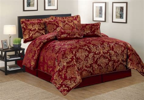 burgundy and gold comforter set luxurious 7pcs quilted bed spread set comforter set