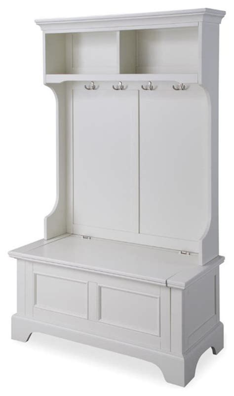 how to make a hall tree storage bench home styles naples hall tree w storage bench in white