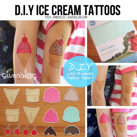 tattoo ointment diy cute ice cream themed crafts
