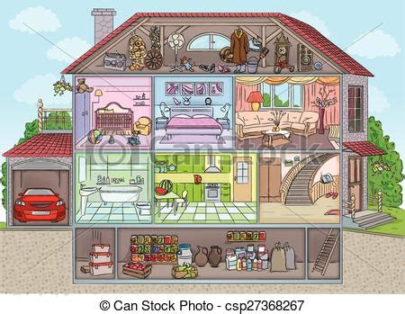Kaos Anime Inside Black basement clipart house interior pencil and in color