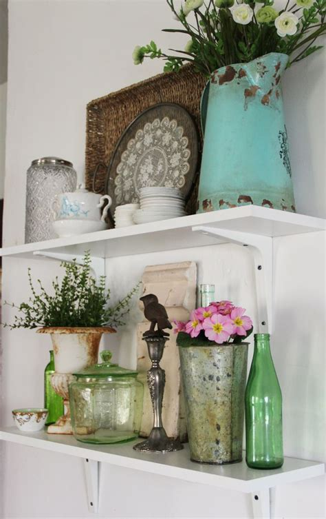 kitchen shelf decorating ideas best 25 kitchen shelf decor ideas on pinterest