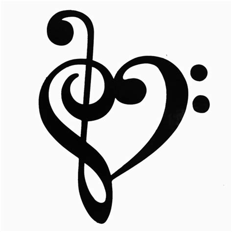 music treble clef heart clipart best