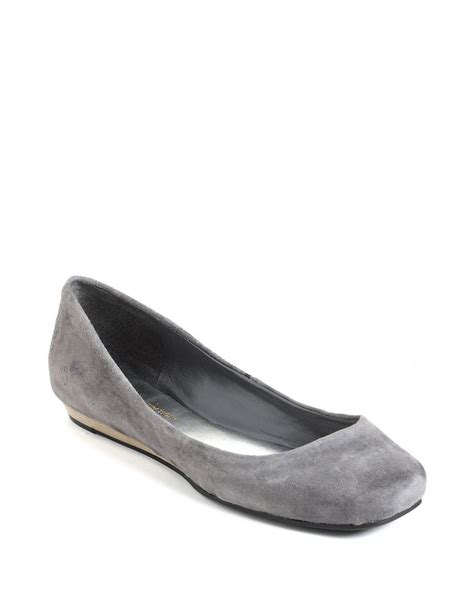 gray ballet flats womens shoes bcbgeneration maryanna leather ballet flats in gray grey