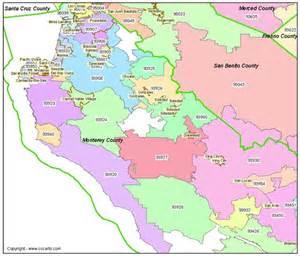 california zipcode map monterey ca zip codes ca zip code boundary map