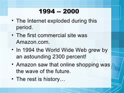 the history of the the history of the internet presentation