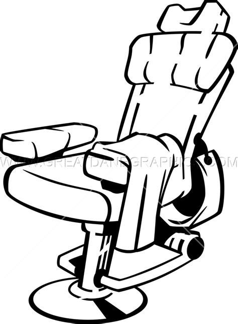 barbers chair production ready artwork for t shirt printing