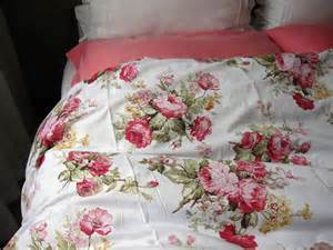shabby chic bedding red green pink roses floral by nurdanceyiz