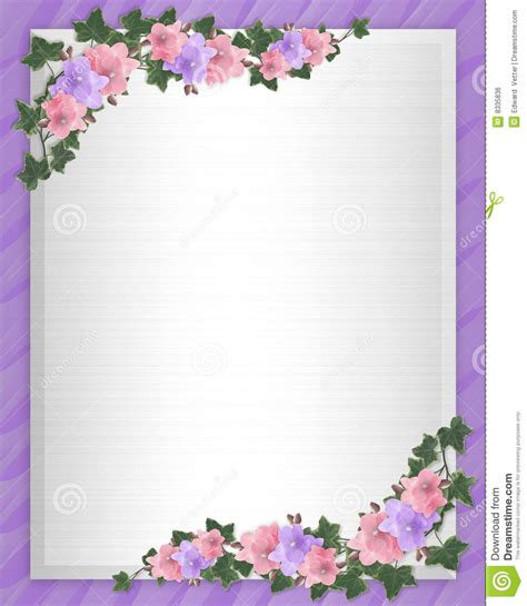 Wedding Invitation Border Orchids Ivy Stock Illustration Illustration Of Card Greeting 8335836 Orchid Wedding Invitation Template