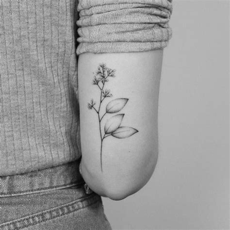 hand poked tattoo method 18 lovely dainty twig flowers tats by lara maju