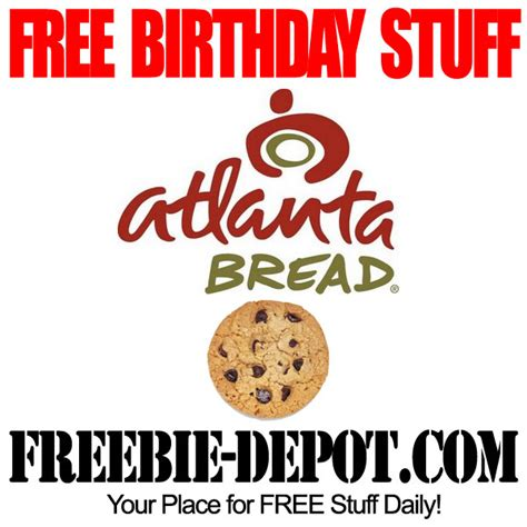Atlanta Bread Company Gift Card - birthday freebie atlanta bread freebie depot