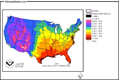 dew point map united states yearly annual and monthly dew point