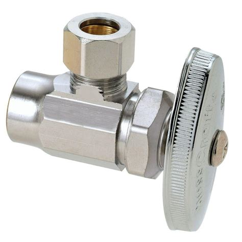 shut valve brasscraft 1 2 in nominal sweat inlet x 3 8 in o d compression outlet multi turn angle valve