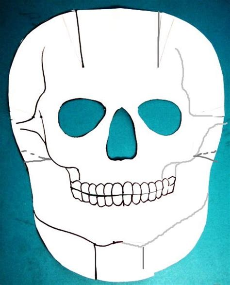 How To Make A Skull Mask Out Of Paper - easy paper skull mask