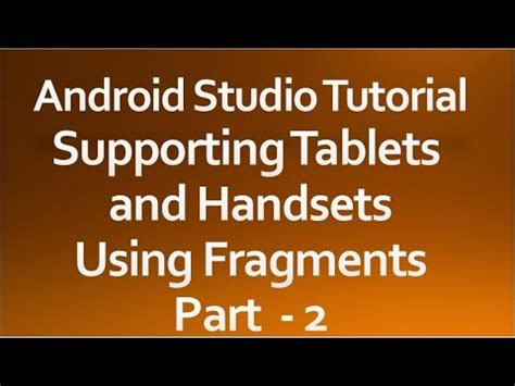 android studio twitter tutorial android studio tutorial 44 supporting tablets and