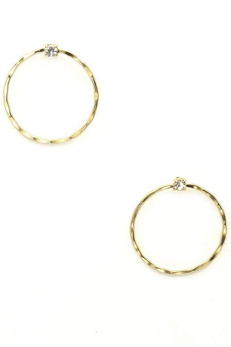 Hoop Stud Earrings metal hoop stud earrings
