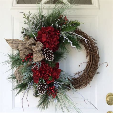 christmas wreath ideas hydrangeas wreaths and christmas on pinterest