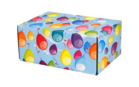 Decorative Shipping Boxes by Colorful Balloons Decorative Shipping Boxes Boxandwrap