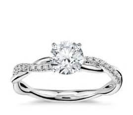 twist engagement ring twist engagement ring in 14k white gold 1 10 ct tw blue nile