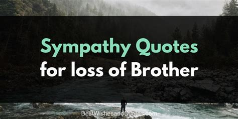 Sympathy Messages for the Loss of a Brother that will