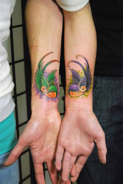 matching lesbian tattoos 20 wonderful tattoos for couples creativefan