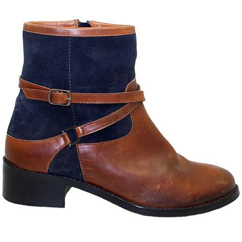 glh460 duty leather suede contrast low block heel
