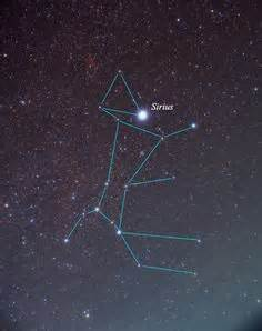canis major  canis minor  dog star sirius  center