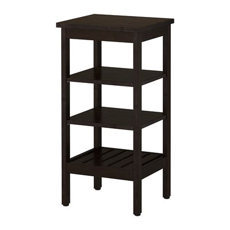 black bathroom shelves hemnes shelving unit black brown stain ikea