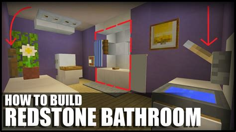 how to make a bathroom minecraft how to make a redstone bathroom in minecraft youtube