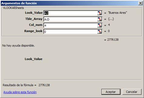 tutorial para usar vlookup excel buscarv vlookup a trav 233 s de varias hojas jld