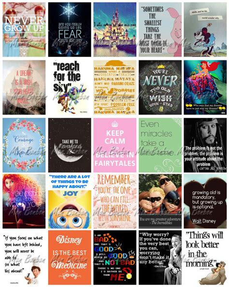 free printable disney quotes disney quotes motivational printable sticker sheet diy