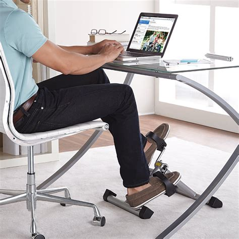 under desk foot exerciser exercise bikes to get you fit at work