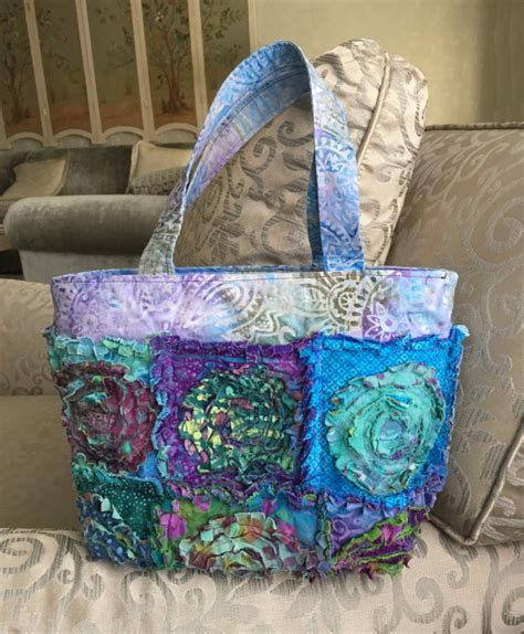 rag tote bag pattern rag bag purse pdf pattern tutorial plus free makeup bag