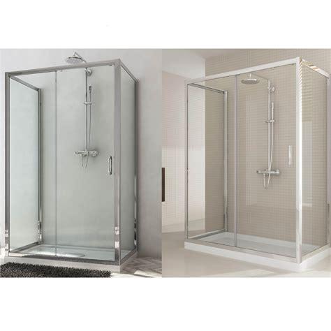 box doccia porta scorrevole box doccia due porte fisse e anta fissa con porta