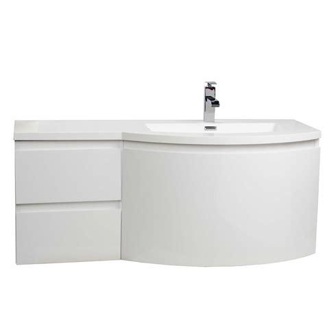 High Gloss Bathroom Vanity Buy Laurance 48 Inch Bathroom Vanity By Cbi High Gloss White Tn Ra1200r Hgw Conceptbaths
