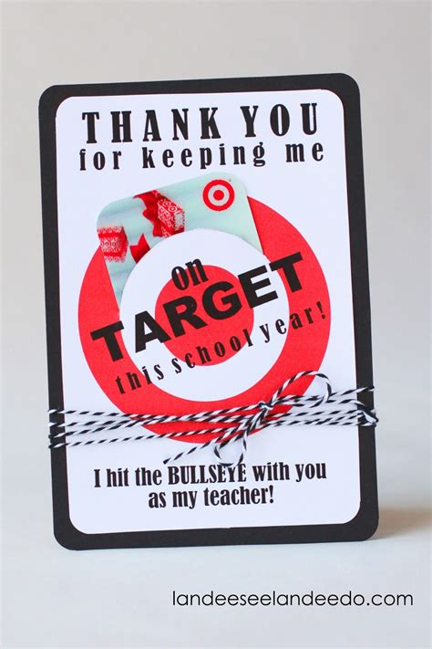 Gift Card Holder Ideas For Teachers - teacher gift idea printable target gift card holder landeelu com