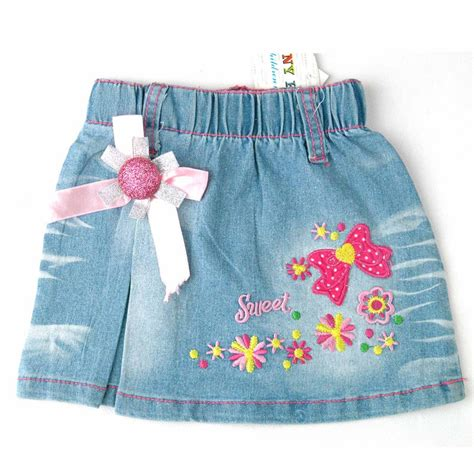 Rok And Bab Stitching Woven Skirt இskirts for children skirt 169 rosette rosette trims flowers letters ᗕ embroidery embroidery