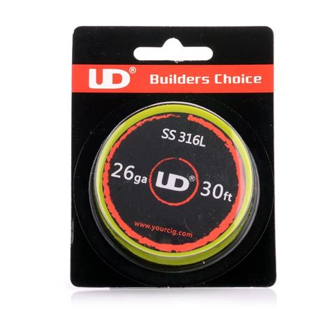 authentic ud 316 stainless steel 26 awg 11 3 ohm resistance wire